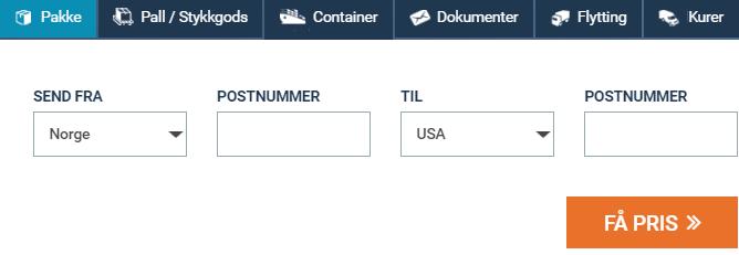 Billigt frakt og pakkepost USA